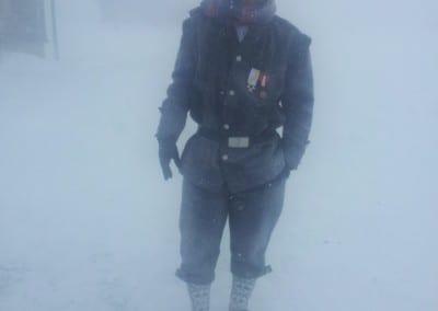 Bergmandsdrakten kan like godt brukes i en snøstorm på Røros....