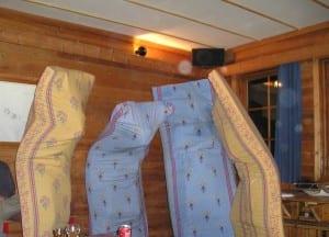 Underholdningen på hytta står man for selv.