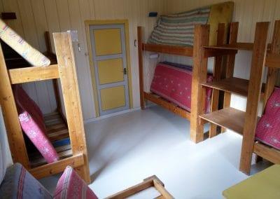 Soverom med 8 sengeplasser